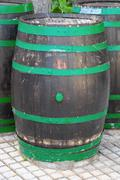 Decorative Old Wooden Barrel Stock Photos