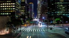 4K Street in Downtown Los Angeles Timelapse Stock Footage