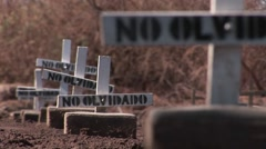 Crosses mark graves of people who are not forgotten. Stock Footage