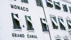 Hotel Monaco Grand Canal in Venice, Italy 4K Stock Video Footage Stock Footage