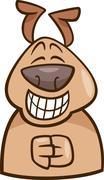 mood green dog cartoon illustration - stock illustration