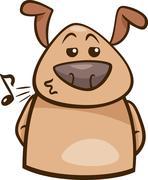Mood chill dog cartoon illustration Stock Illustration