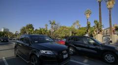 Driving Plates Multi Angle LA Wilshire Blvd 12 CAM3 3/4 L MacArthur Park East Stock Footage