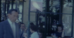 Paris Champs Elysees 60s Cafe Street Vintage Stock Footage