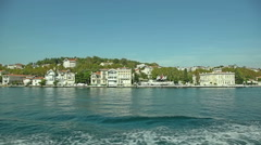 Houses and mansions in Istanbul Stock Footage