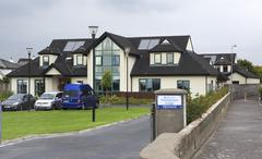 Modern accommodation on the outskirts of town Galway - stock photo