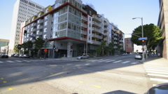 Driving Plates Multi Angle LA Wilshire Blvd 14 CAM3 3/4 L Downtown Eastbound Stock Footage