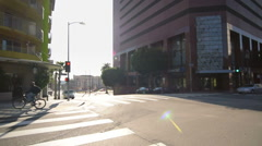 Driving Plates Multi Angle LA Wilshire Blvd 14 CAM4 3/4 R Downtown Eastbound Stock Footage