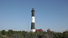 Old Lighthouse in Fire Island New York Stock Video Stock Footage