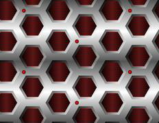 Seamless hexagonal pattern - stock illustration