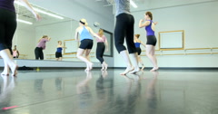 Dancers performing and practicing. Ultra HD 4K Stock Footage