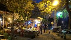 Bangkok Flower Display 2014 - Night-Time 7 Stock Footage