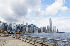Modern Buildings in Hong Kong finance district Stock Photos