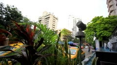 Typical urban style town homes. Bangkok city. HD. 1920x1080 Stock Footage