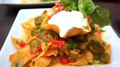 Plate with taco, salad. mexican food. HD. 1920x1080 Stock Footage
