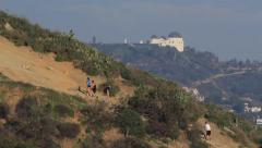 Hikers in the Hills of Los Angeles - stock footage