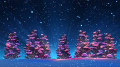 Christmas Trees and Snow (Animation Loop) Stock Footage