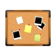Cork Notice Board Stock Illustration