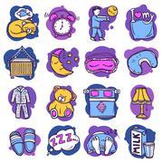 Sleep Time Icons Piirros