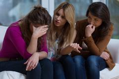 Stock Photo of Helpful girls