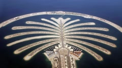 Jumeirah Palm Island Development In Dubai Stock Footage