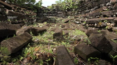 Nan Madol on the Micronesian island of Pohnpei Stock Footage