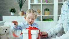 Birthday Present Stock Footage