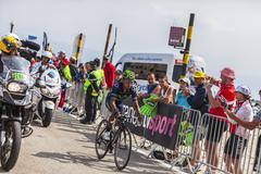 The Cyclist Nairo Alexander Quintana Rojas on Mont Ventoux - stock photo