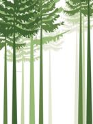 trees 2 - stock illustration