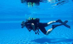 Scuba Diving Training - stock photo