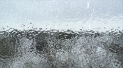 Freezing rain - stock footage
