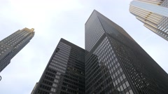 Skyscarpers in downtown Chicago Stock Footage