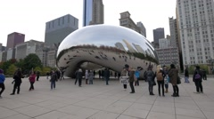 Free hugs at The Bean, downtown Chicago - stock footage