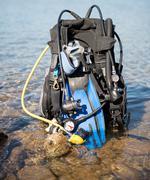 Scuba diving equipment - stock photo