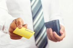 Bank card presentation. - stock photo