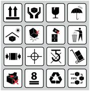 Stock Illustration of packaging icons