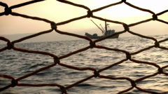 A ship is seen from a pier. Stock Footage