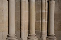 Classical pillars with portico detail - stock photo