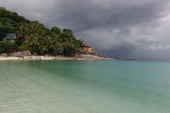 Big storm of ko tao a small island in Andaman sea Stock Photos