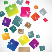 Abstract background: purse Stock Illustration