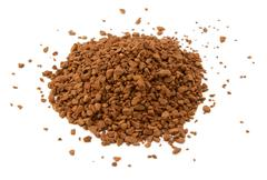 Heap of instant coffee granules Stock Photos