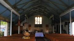 Holy innocents church maui interior Stock Footage