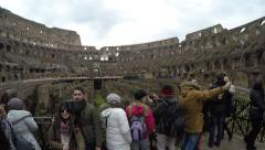 Colosseum, the famous sightseeing in Rome, Italy. Stock Footage