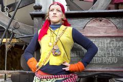 Gypsy girl standing Stock Photos