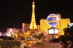 Paris Hotel Casino Las Vegas  - Time-lapse Stock Footage