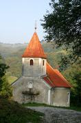 Beautiful small rural church in Croatia - stock photo