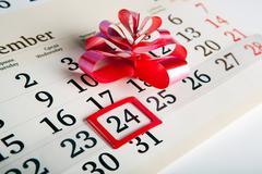 Calendar days with numbers close up Stock Photos