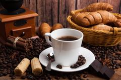 Coffee still life with cup of coffee - stock photo