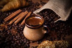 Coffee still life Stock Photos