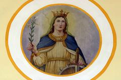 Saint Catherine of Alexandria - stock photo